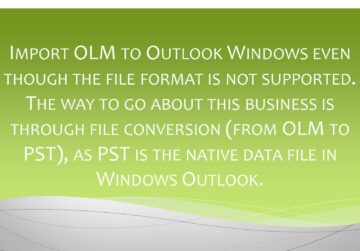 how to import olm to outlook windows